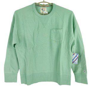 NWT Todd Snyder x Champion Light Pistachio Green Long Sleeve Pocket Sweatshirt